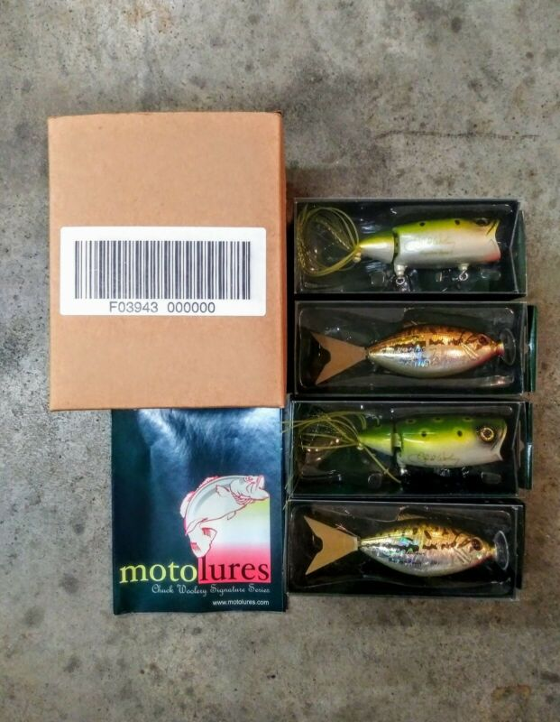 (4) NEW Chuck Woolery Moto Chug Fishing Lures