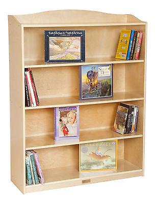 Guidecraft 5 Shelf Bookshelf in Natural Wood Finish
