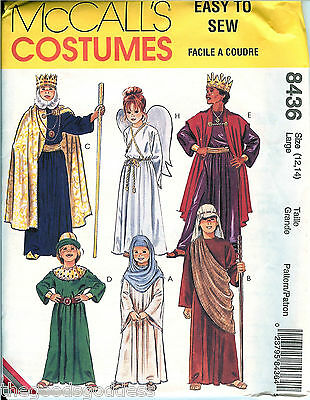 McCalls 8436 CHILD Biblical Shepherd Angel Easy Sewing pattern XS-XL UNCUT - Easy Angel Costume