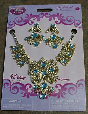 Disney Store Jasmine Costume Jewelry Set - Earrings & Necklace