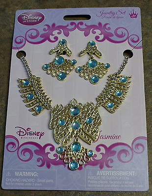 Disney Store Jasmine Costume Jewelry Set - Earrings & Necklace