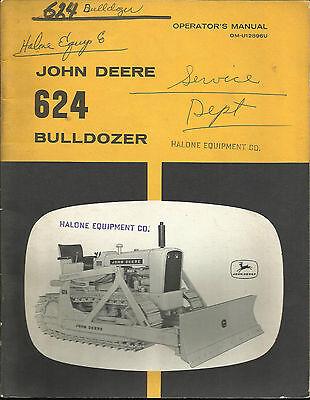 John Deere 624 Bulldozer Operators Manual