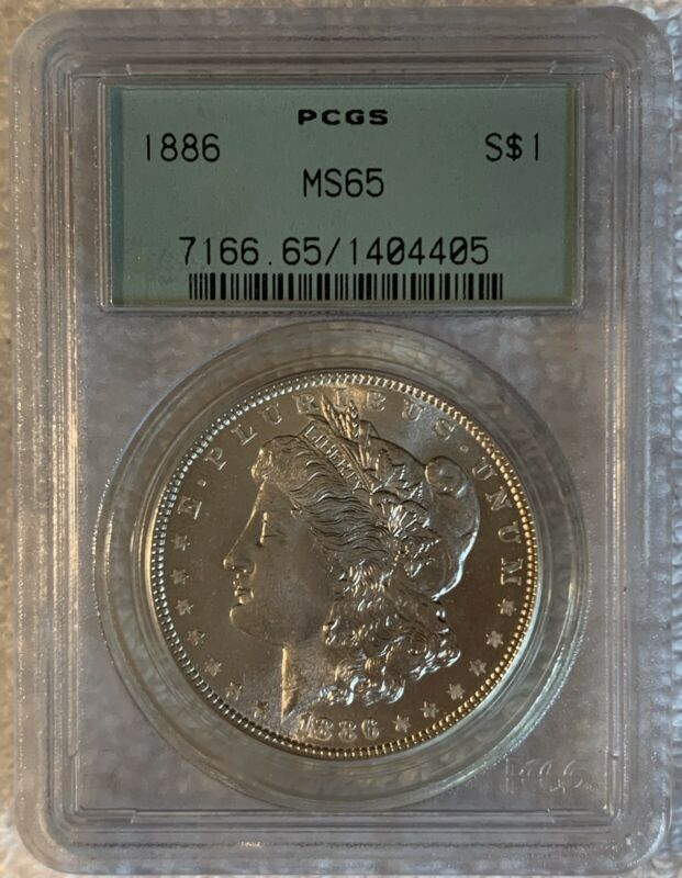 Morgan Silver Dollar - 1886 - MS 65 - PCGS