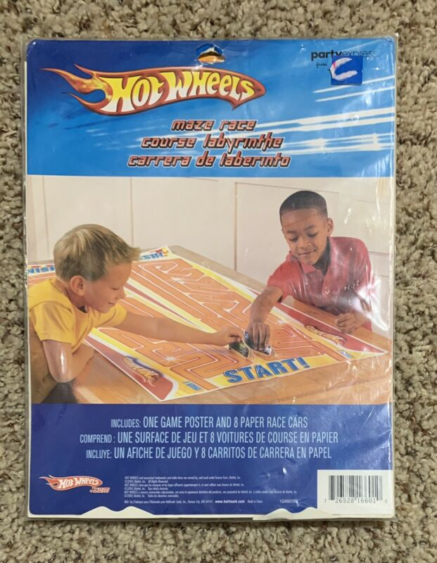 HOT WHEELS Fast Action Maze Race - Birthday Party Supplies Room Decorations