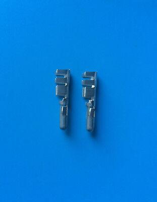 2x 350391-1 Amp Connector Pin 10-14awg Tin Crimp Universal Mate-n-lok 2units