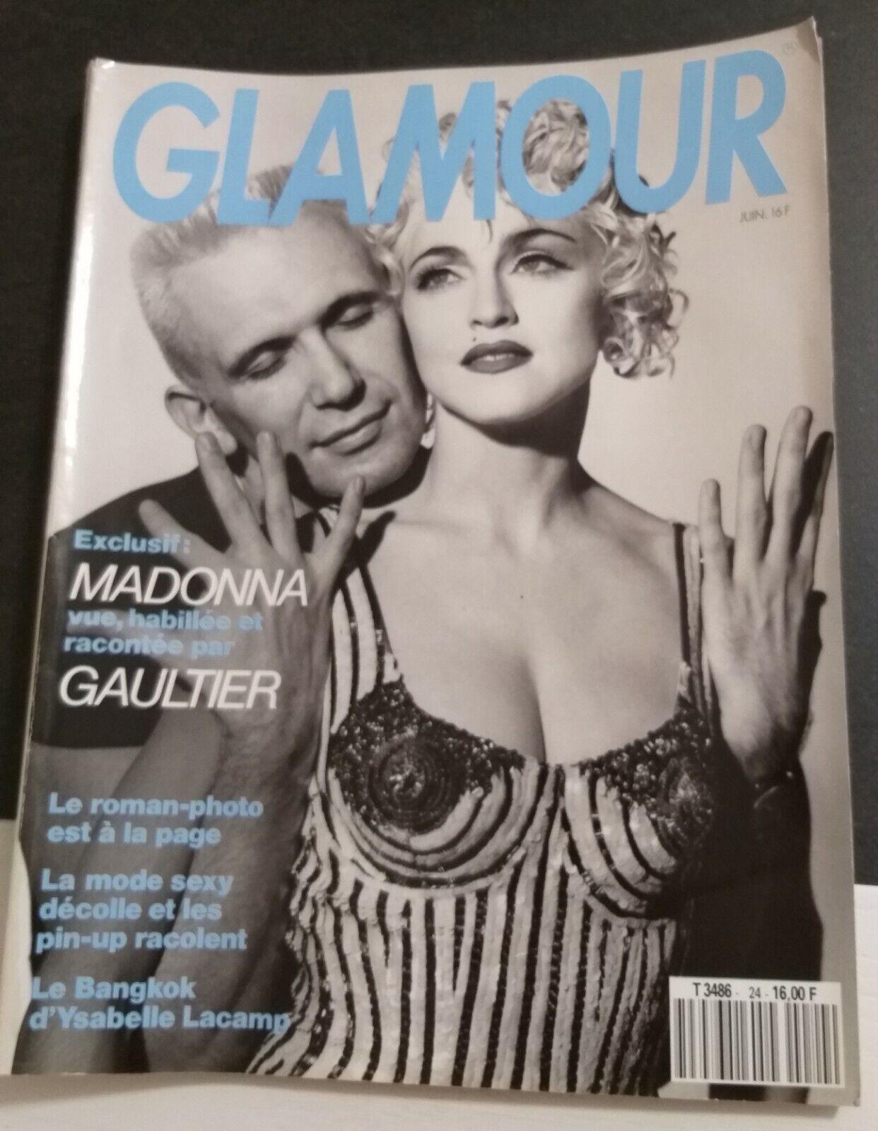 Magazine glamour jean paul gaultier/madonna juin 1988