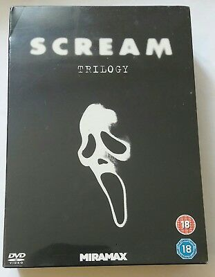 Scream Trilogy DVD. Horror Film / Movie. Great For Halloween. Scary. 18. Box - Halloween Movie Dvd Box Set