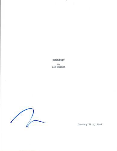 Ken Jeong Signed Autograph COMMUNITY Pilot Episode Script COA VD