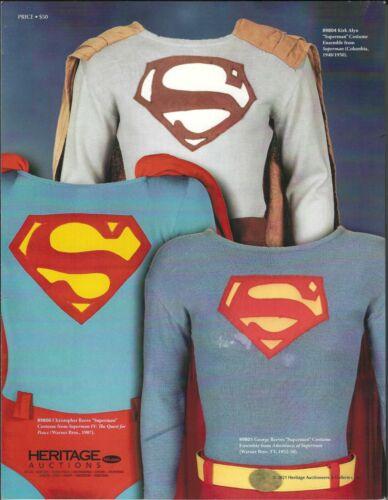 3 HERITAGE HOLLYWOOD ENTERTAINMENT AUCTION CATALOGS NOV 4-7,2021 SUPERMAN ROCKY