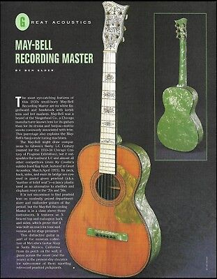 May-Bell Recording Master 1930's vintage guitar 8 x 11 article print with photo