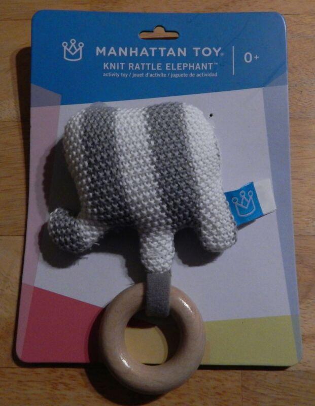 Manhattan Toy Elephant Knit Baby Rattle