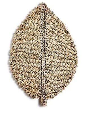 HD Designs Outdoor Fall Harvest Sisal Grass Morteau Leaf Pattern Place Mat  1 -