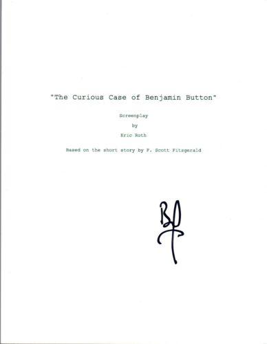 Brad Pitt Signed Autographed THE CURIOUS CASE OF BENJAMIN BUTTON Script COA VD