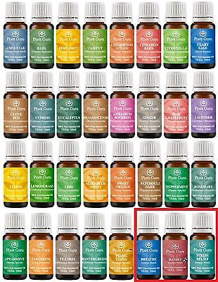 Ultimate Essential Oil Set 100% Pure Natural Therapeutic Grade Oils Lot 10 ml.