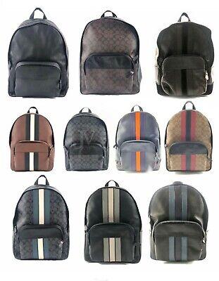 Coach Mens (F49324 F49313 F72483) Large Houston Leather Backpack Bag