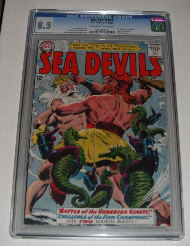 Sea Devils  # 14...CGC Universal slab 8.5  VF+ grade--ca...1963 comic book