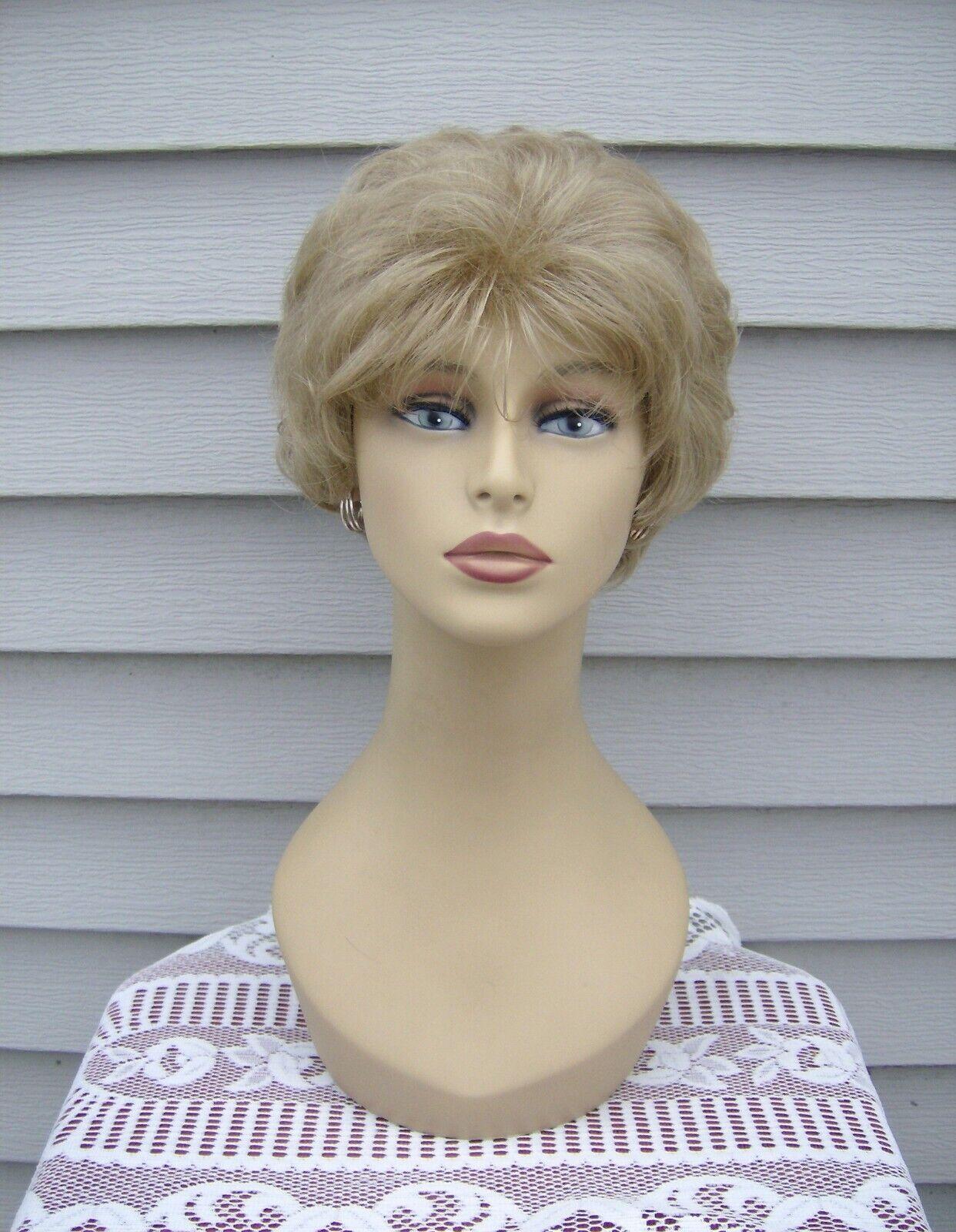 Greenwich Collection Wig DELPHINIUM Color 16 Medium Blonde Short Wavy Style - $17.95