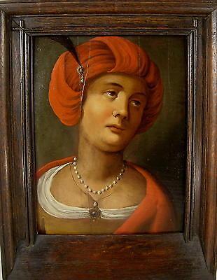 um1650-1750 / Orientalische Schönheit / Gemälde / Öl auf Holzplatte (paketiert)