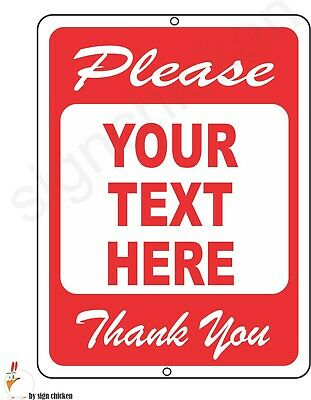 PLEASE, CUSTOM TEXT IN WHITE BOX AREA- NOTICE SIGNAGE / ALUMINUM SIGN, ANY TEXT Aluminum Field Box