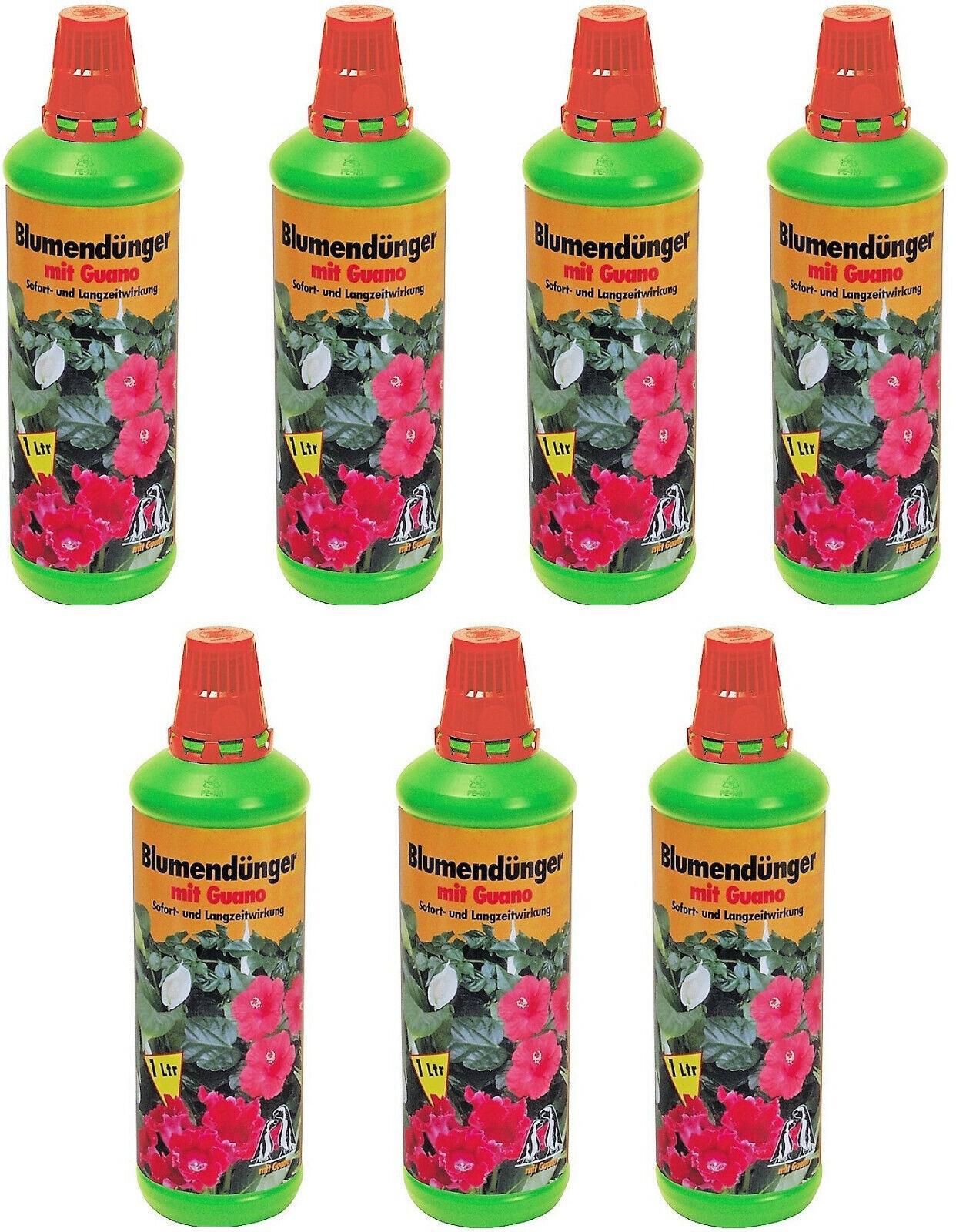 # Blumendünger mit Guano Naturdünger Gartendünger 7x 1 L Flüssigdünger 7 Liter