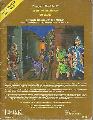 Advanced Dungeons & Dragons RPG A2 Secret of the Slavers Stockade  VG TSR 9040