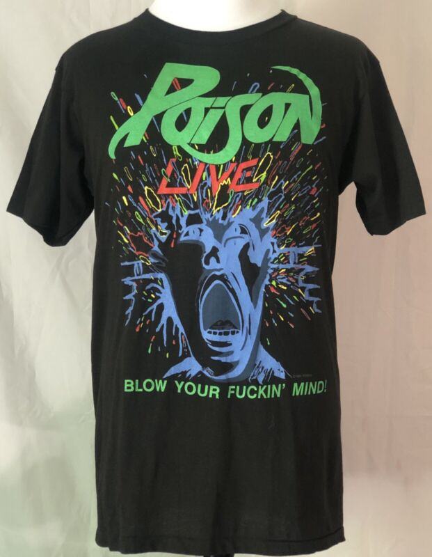 Poison 1988-89 Open Up And Say Ahh Tour Shirt Size XL
