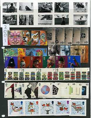Commemoratives - GB 2001-2002 Individual Commemorative Sets MNH Multiple Listing
