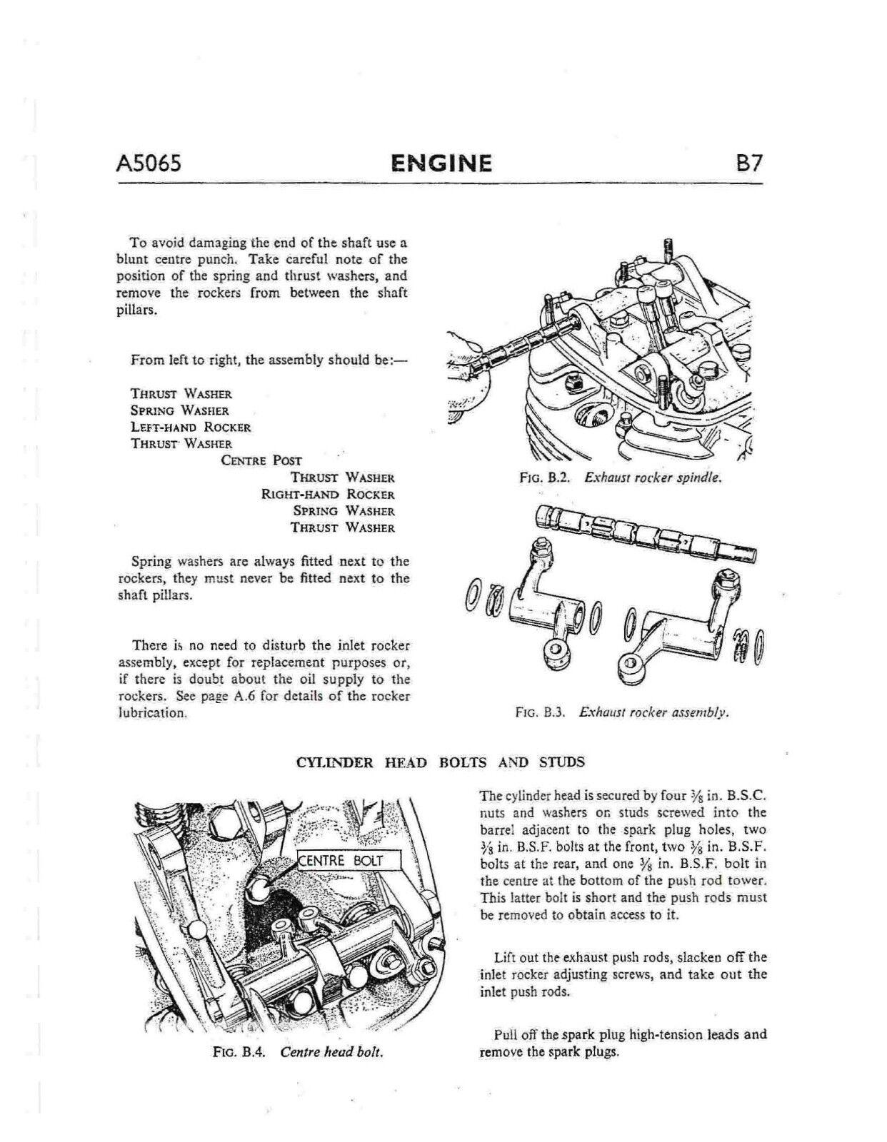 2 of 12 BSA workshop service manual 1966 A65 HORNET