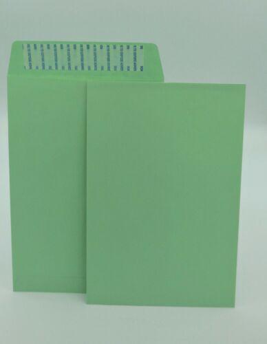"6"" x 9"" Premium Catalog Envelopes, Premium 24lb. Green, Peel & Seal, 500/Box"