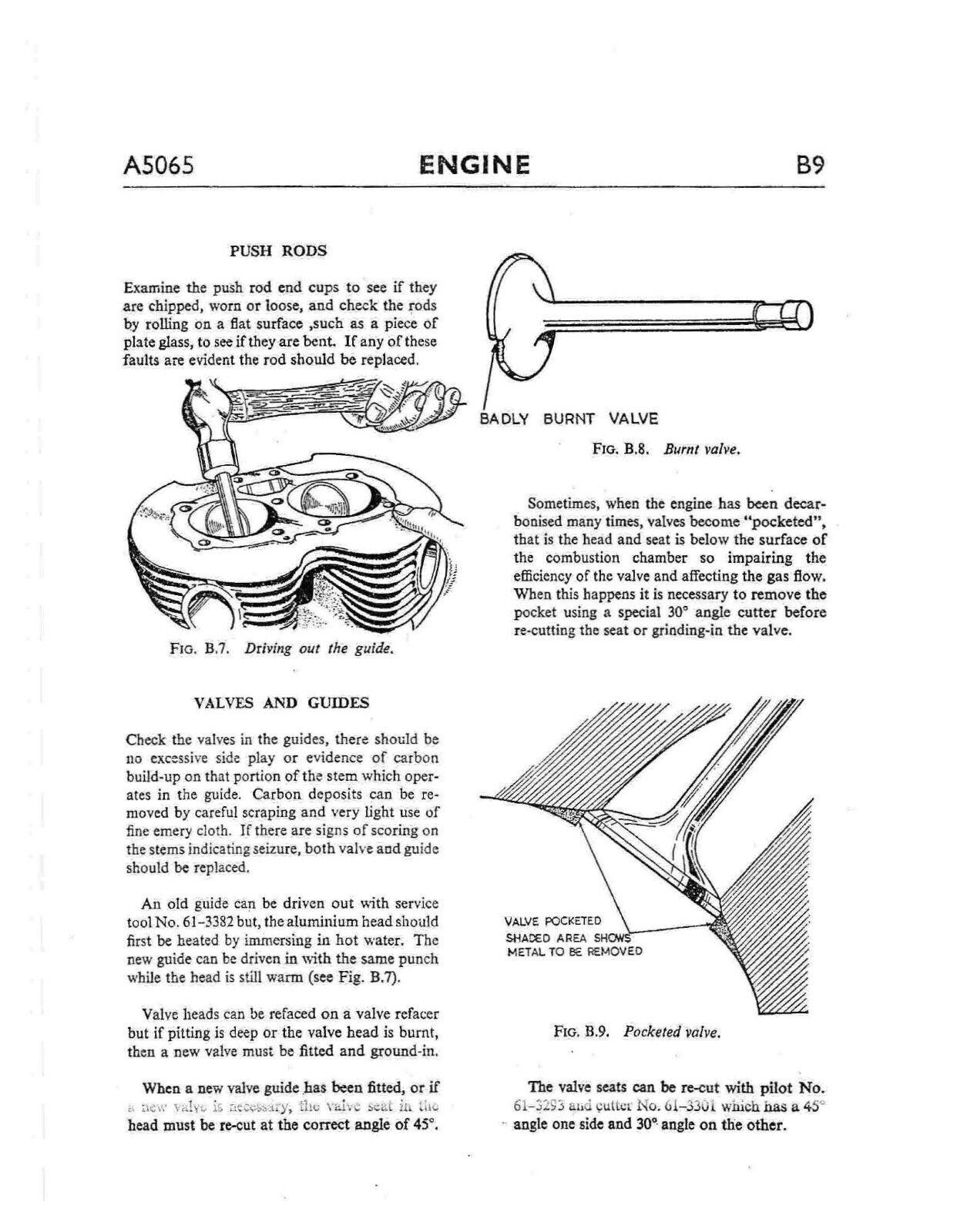 4 of 12 BSA workshop service manual 1966 A65 HORNET