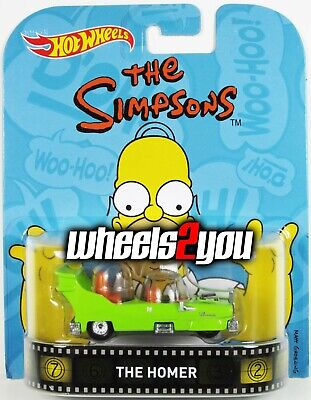 THE HOMER The Simpsons - 2016 Hot Wheels Retro Entertainment - REAL RIDERS