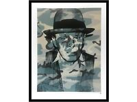 Andy Warhol Joseph Beuys Poster Bild Kunstdruck im Alu Rahmen in schwarz 80x60cm