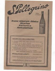 Pubblicita-epoca-1916-ACQUA-S-PELLEGRINO-WATER-advert-werbung-publicite-reklame