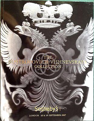 Sotheby's Auction Catalog ROSTROPOVICH VISHNEVSKAYA COLLECTION LONDON Sale 2007