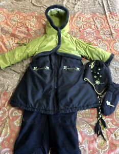 Like New Condition-Girls GUSTI Sz 4 complete Snowsuit