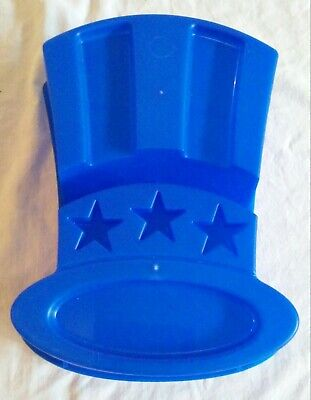 Vintage JELL-O Mold USA Uncle Sam Top Hat shaped July 4th Patriotic plastic RARE