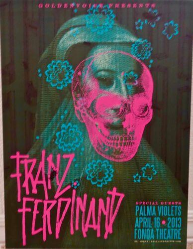 FRANZ FERDINAND  --  Fonda Theatre Los Angeles  -  April 16, 2013 Concert Poster