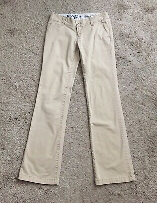 Preppy School Supplies (MOSSIMO SUPPLY CO Womens Size 1 Khaki Beige Tan Boot Cut Chino Pants 31