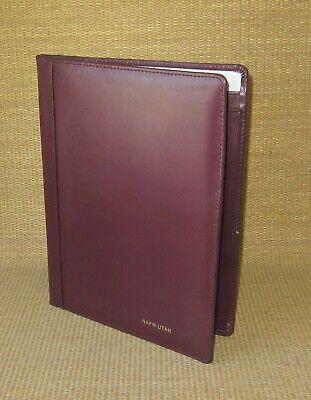 Monarchfolio Pad Burgundy Genuine Leather Notepad Padfolio Cover