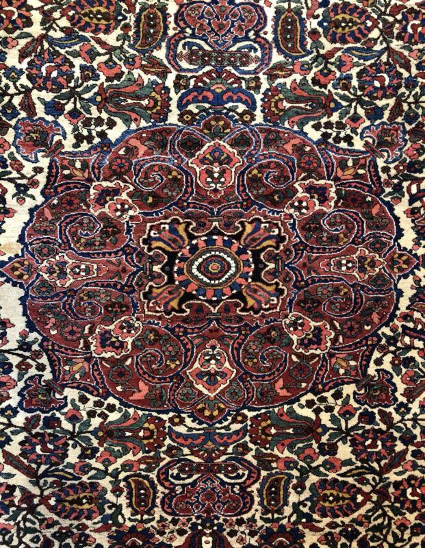 Sensational Saman - 1940s Antique Oriental Rug - Tribal Carpet - 7.2 X 10.7 Ft