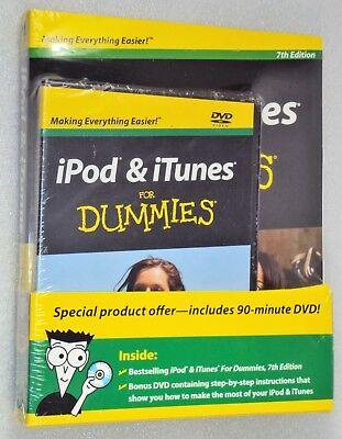 iPod & iTunes FOR DUMMIES New Sealed Paperback Record & DVD 7th Edition How To