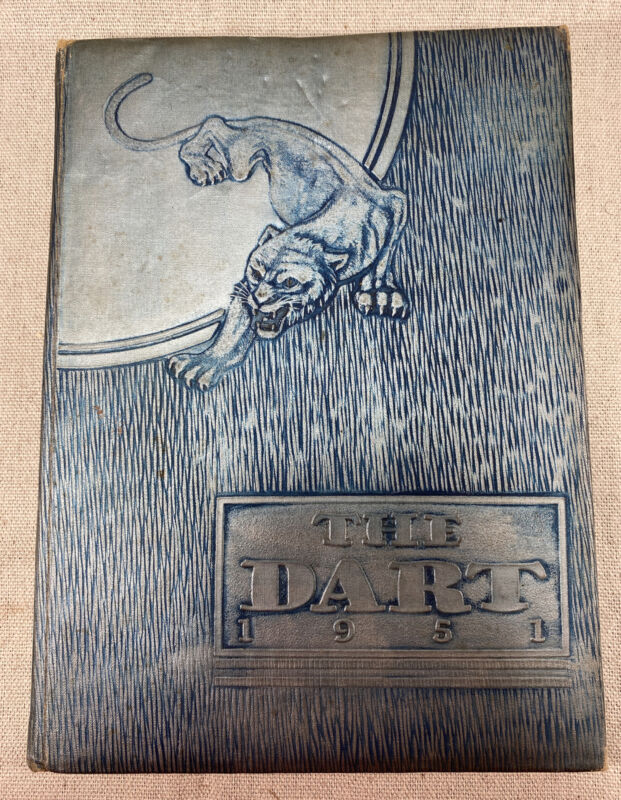 "Vintage 1951 ""The Dart"" Yearbook! Ashtabula High School, Ohio"