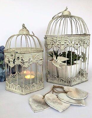 HEXAGONAL Weißmetall Vogelkäfig Vintage Billig Herz Hochzeitsdekoration