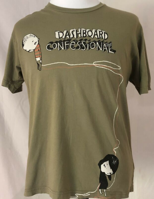 Dashboard Confessional 2006 Dusk To Summer Tour Green Shirt Size Large