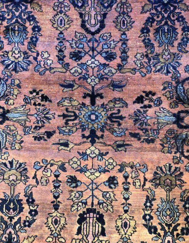Lovely Lilihan - 1920s Antique Sarouk Rug - Floral Oriental Carpet 5.3 X 6.6 Ft.