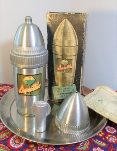 vtg Retro Rocket Ralmac Smoothie Mixer~Cocktail Shaker~Atomic Age~Silver Bullet