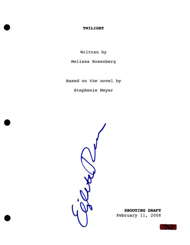 GFA Twilight * ELIZABETH REASER * Signed Full Movie Script COA