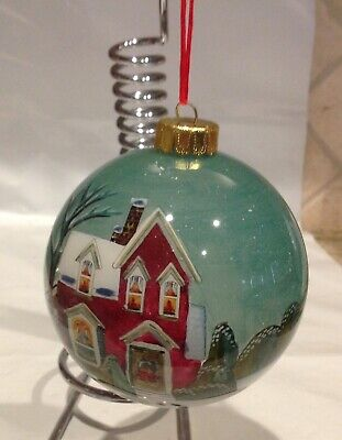 Traditional Home House with Winter Wonderland Theme Christmas Ornament](Winter Wonderland Theme)