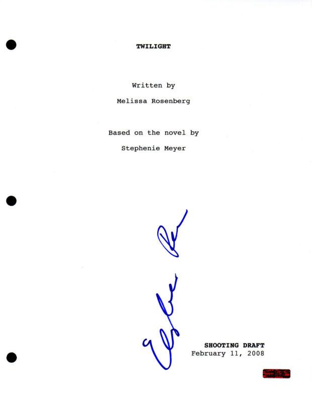 GFA Twilight * ELIZABETH REASER * Signed Full Movie Script AD1 COA