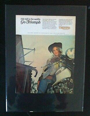 1969 Triumph Motorcycle Bonneville in saddle